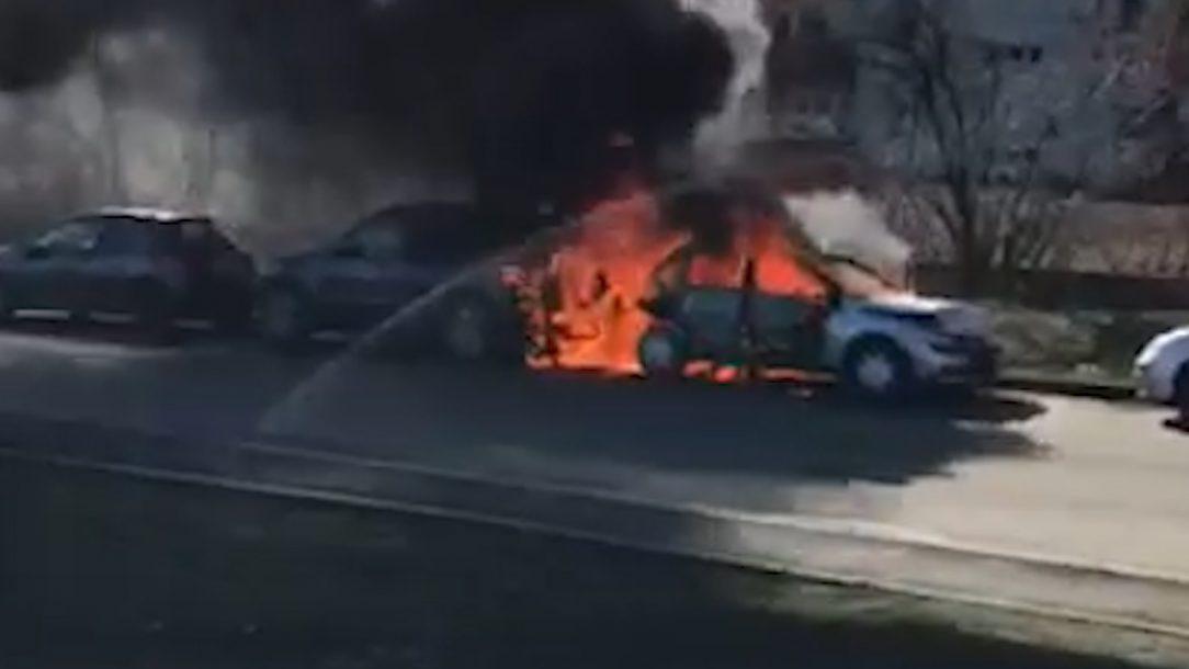 incendiu auto cluj